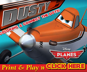 Disney's Planes Printable Activity Sheets