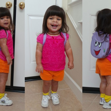 DIY Dora Costume : Easy and Frugal Toddler Costume