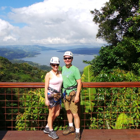 Zip-lining in Costa Rica!