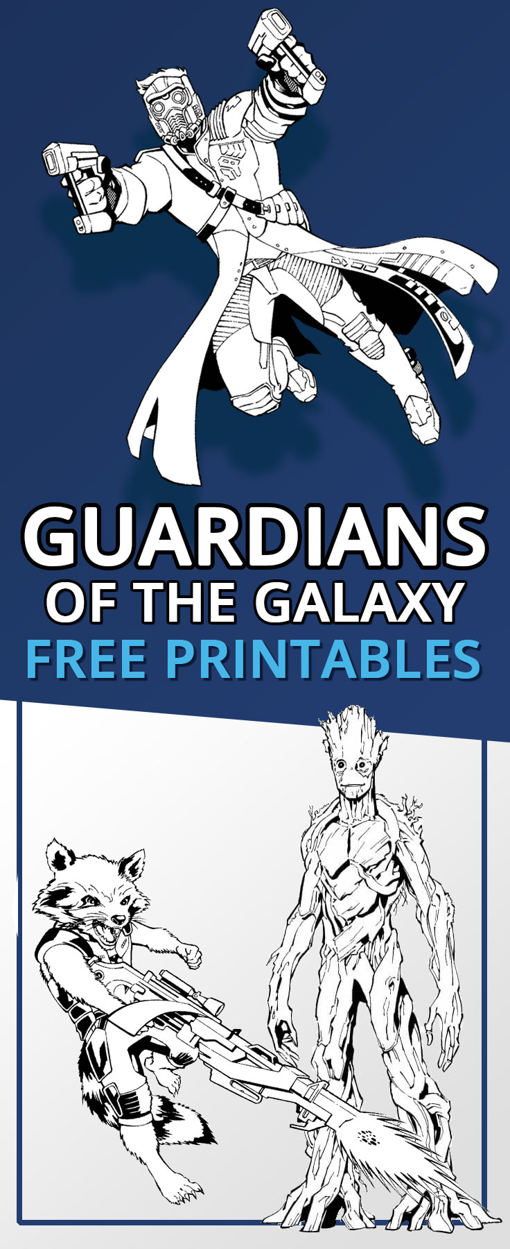 Guardians Of The Galaxy Free Printables