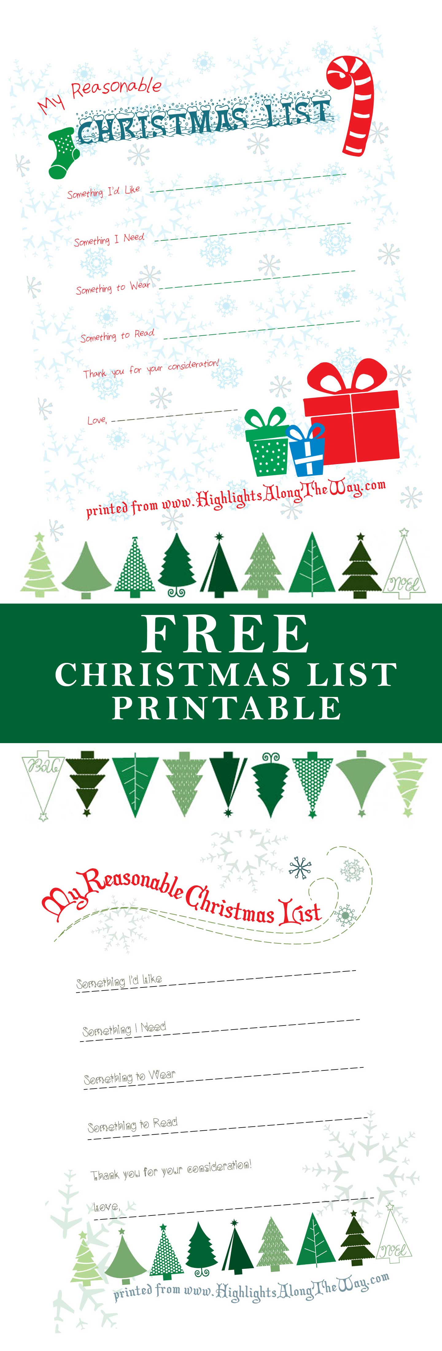 It is a photo of Old Fashioned Free Printable Christmas List
