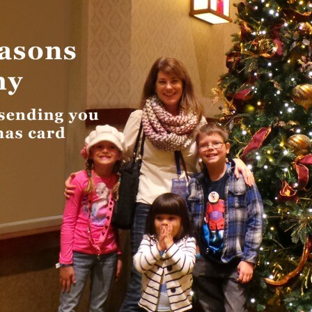 3 reasons why I am not sending you a Christmas card this year.