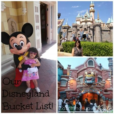 Disneyland Bucket List!