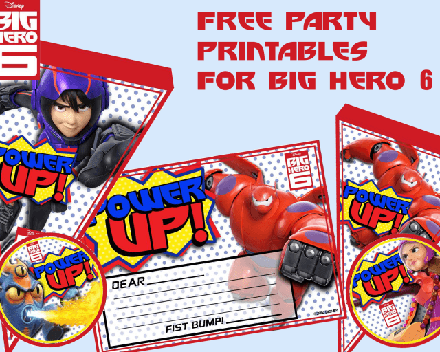 Big Hero 6 Printable party pack