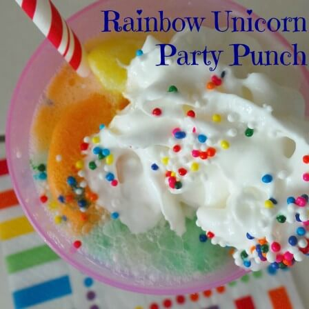Rainbow Unicorn Party Punch