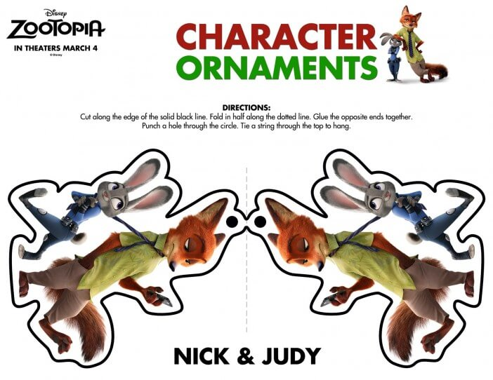 Zootopia Nick and judy ornament