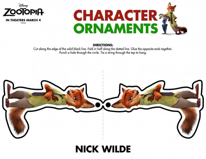 Zootopia nick wilde ornament