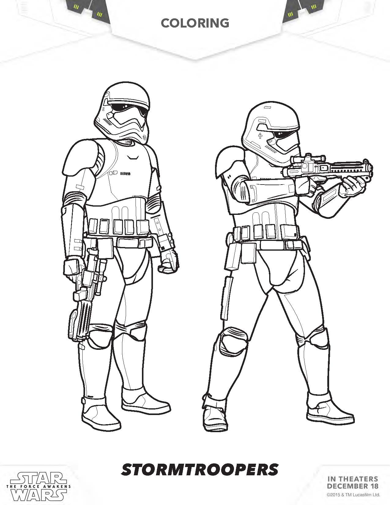 Coloring pages star wars bb8 - Star Wars Rey Coloring Pages Star Wars Poe Coloring Pages The Force Awakens Stormtroopers Coloring Pages