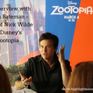 The voice of Nick Wilde, An interview with Jason Bateman