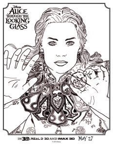 Alice Through The Looking Glass Alice coloring sheet