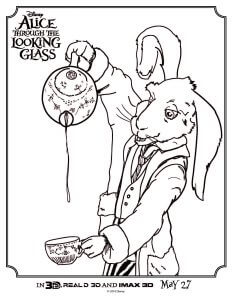 Alice Through The Looking Glass coloring sheet