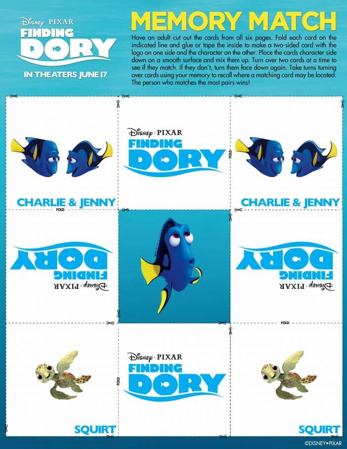 finding dory memory game Page 5