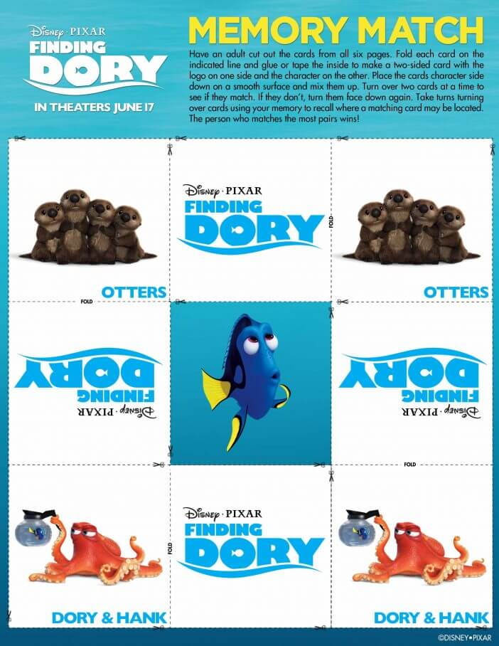 finding dory memory game Page 7