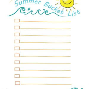 Summer Bucket List FREE Printable!