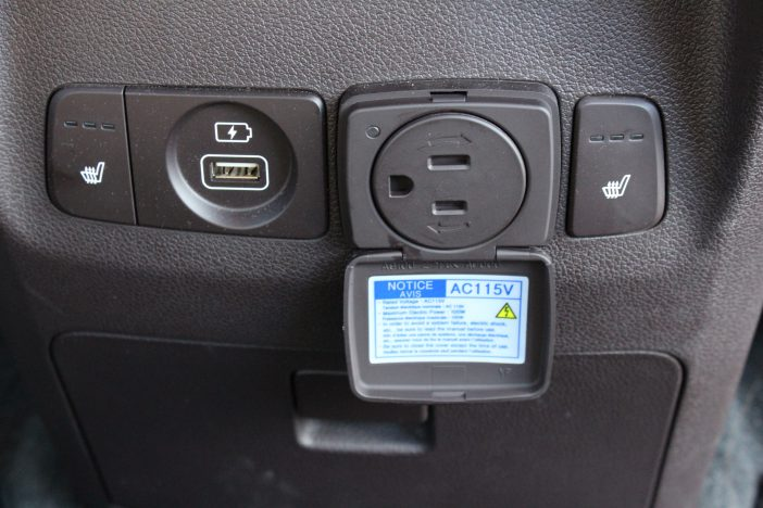 USB and standard outlets