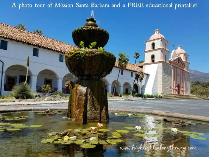 Santa Barbara Mission free printable