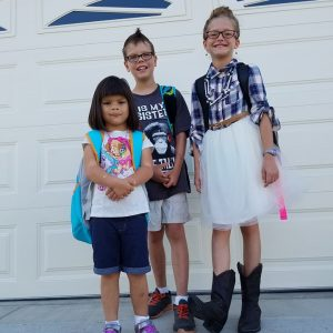 First day of Kindergarten for my baby…. sniff sniff….. just kidding – girl, bye.