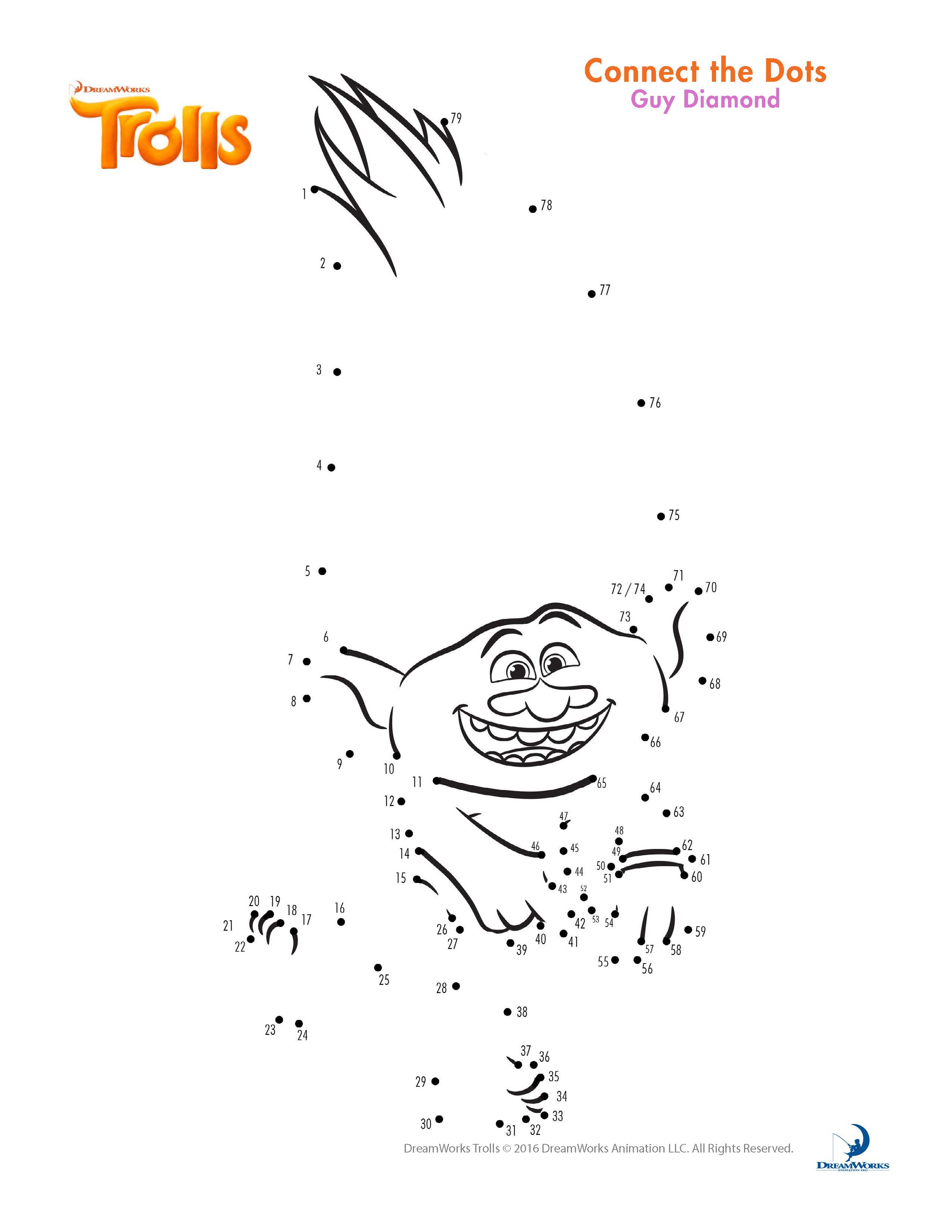 Trolls coloring pages branch - Trolls Coloring Branch And Poppy Trolls Printables Trolls Activity Sheet