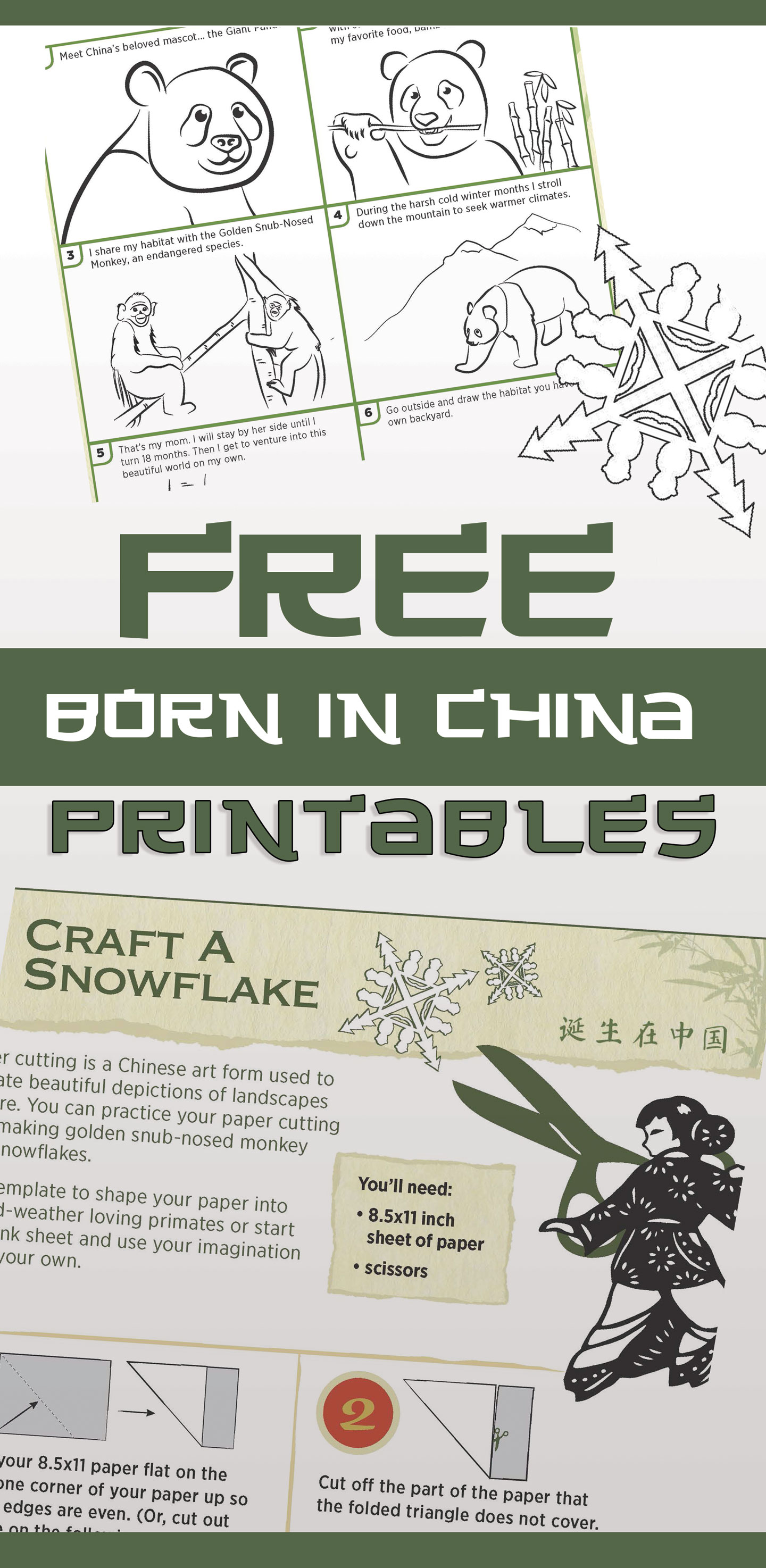 Born in China printable sheets