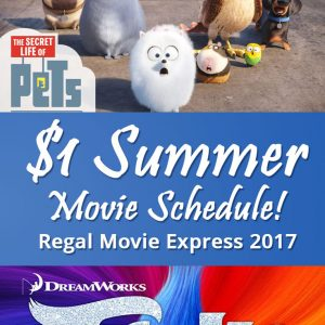 Summer Movie Express – $1 movies all Summer long!