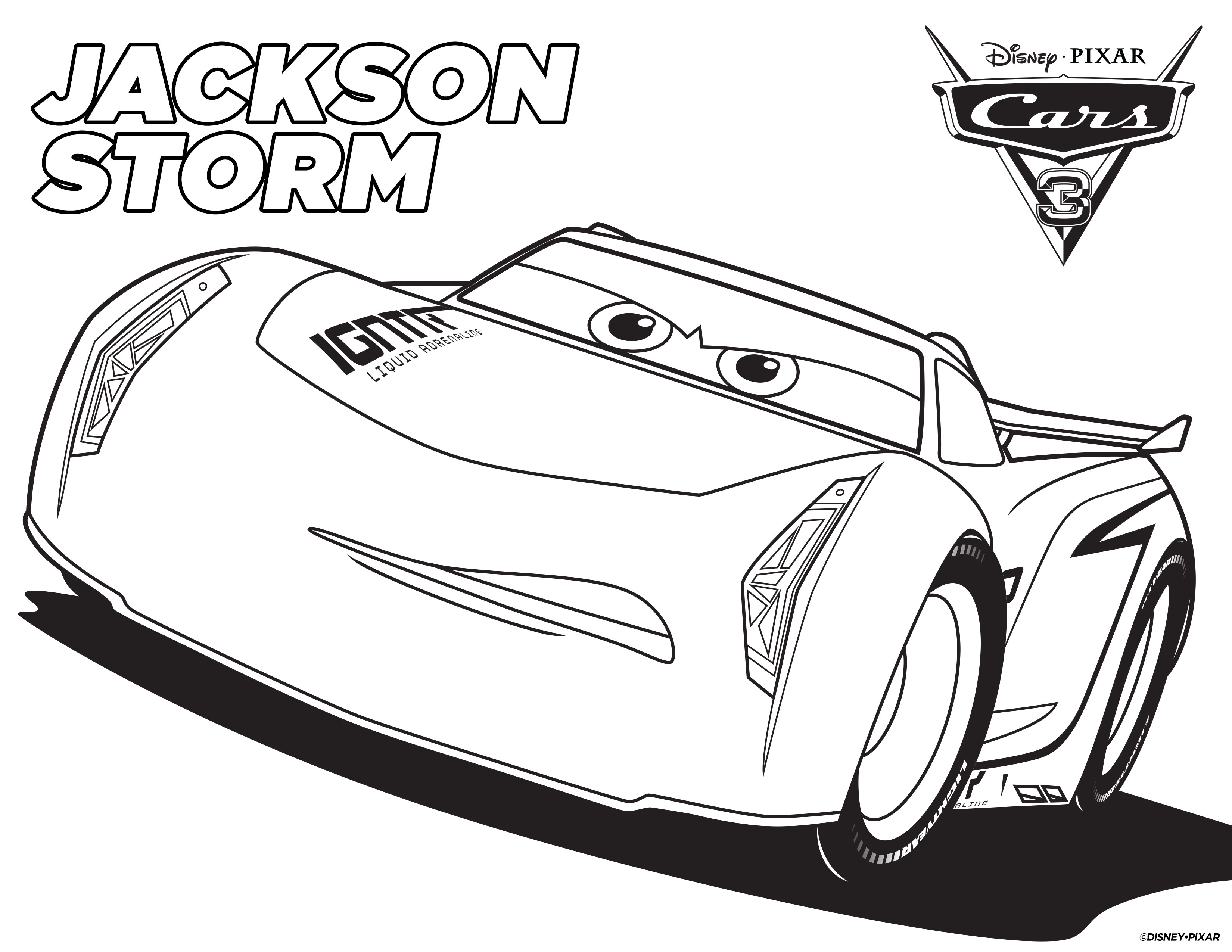 Coloring pages with cars - Cars 3 Storm Coloring Page