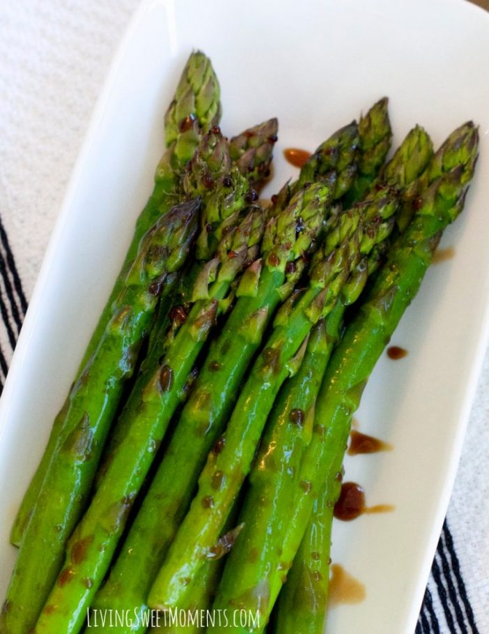 Lemon Balsamic Asparagus