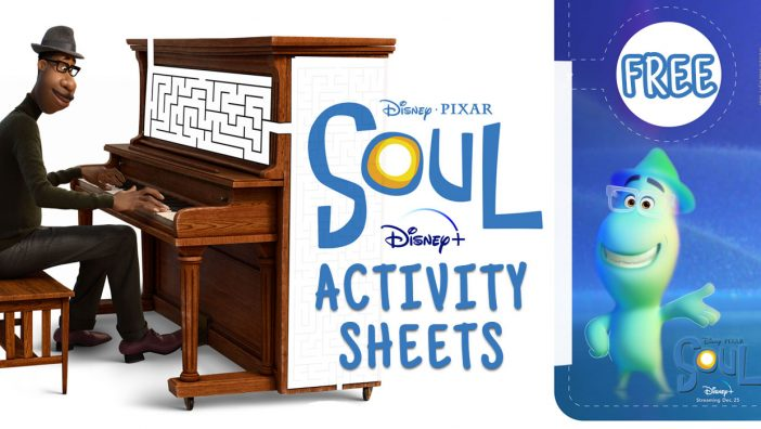 printable activity sheets for soul pixar disney
