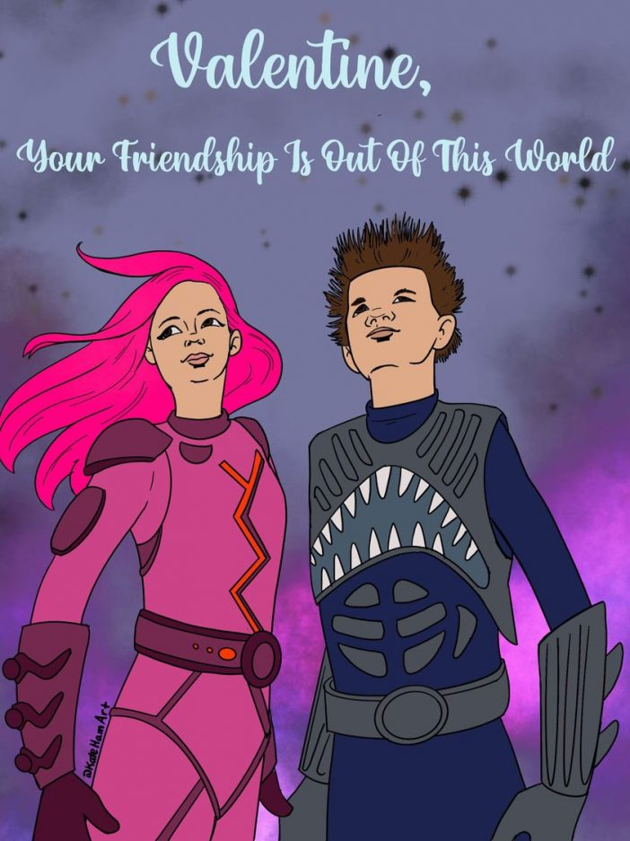 Sharkboy and Lavagirl digital valentine's day card print or email