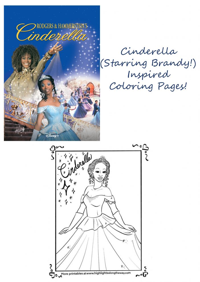 Cinderella starring Brandy free printable coloring sheet