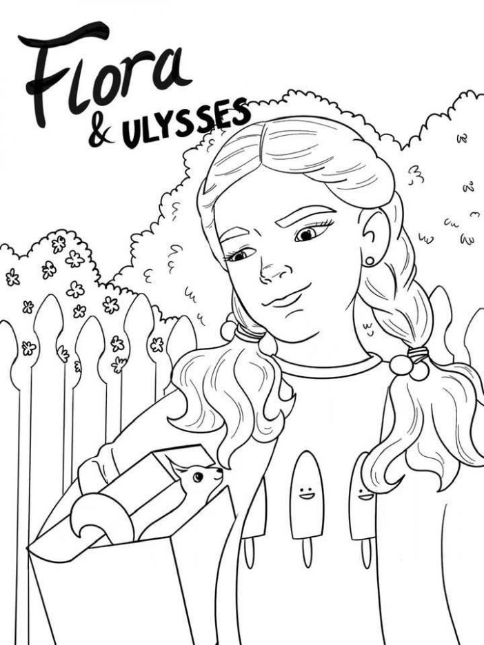 FLora and Ulysses coloring sheet