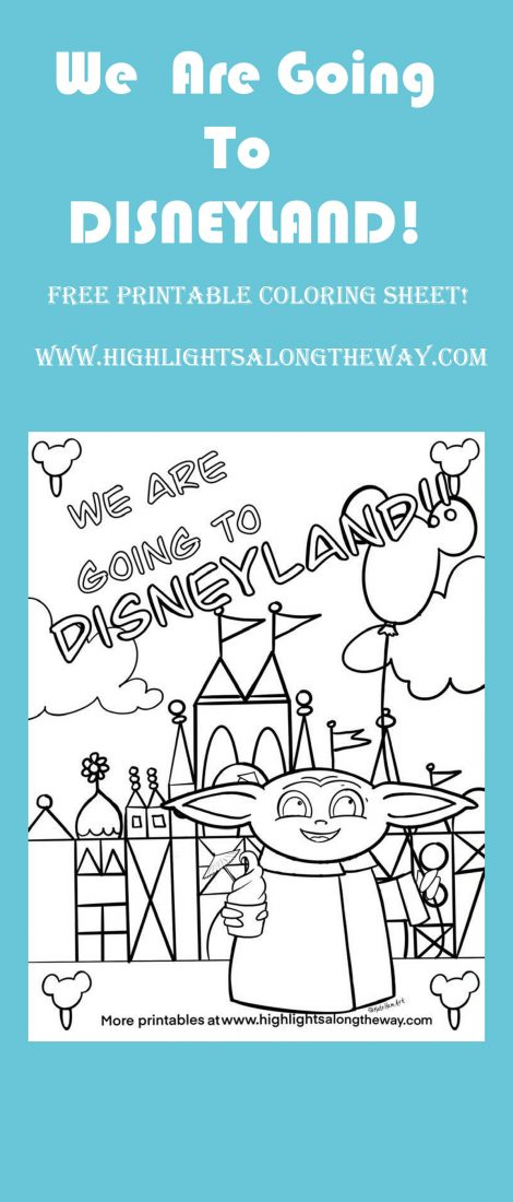 free printable coloring sheet baby yoda at disneyland