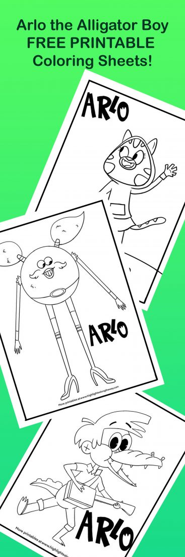 arlo alligator coloring sheets