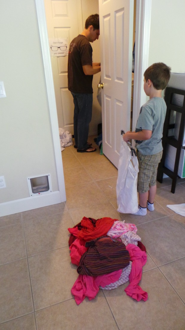 Hubby doing the laundry