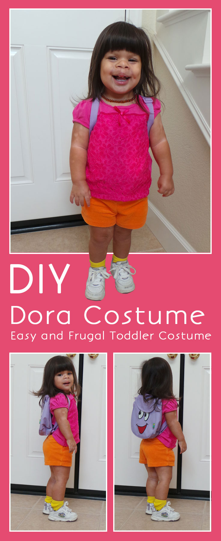 dora costume  sc 1 st  Highlights Along the Way & Easy DIY Dora Halloween Costume | Dora Costume | DIY Costume