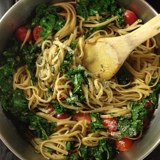 kale pasta easy recipe