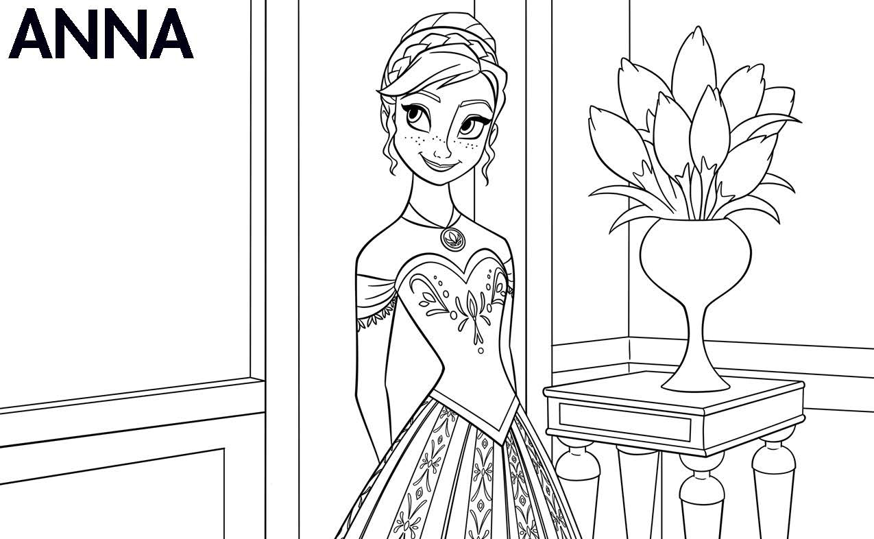 Frozen printable coloring book - Frozen Printable Coloring Book 22
