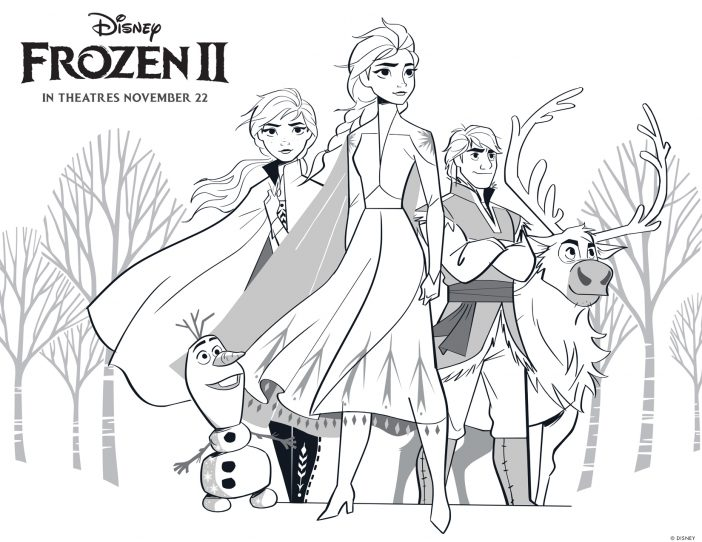 Frozen 2 high resolution coloring sheet