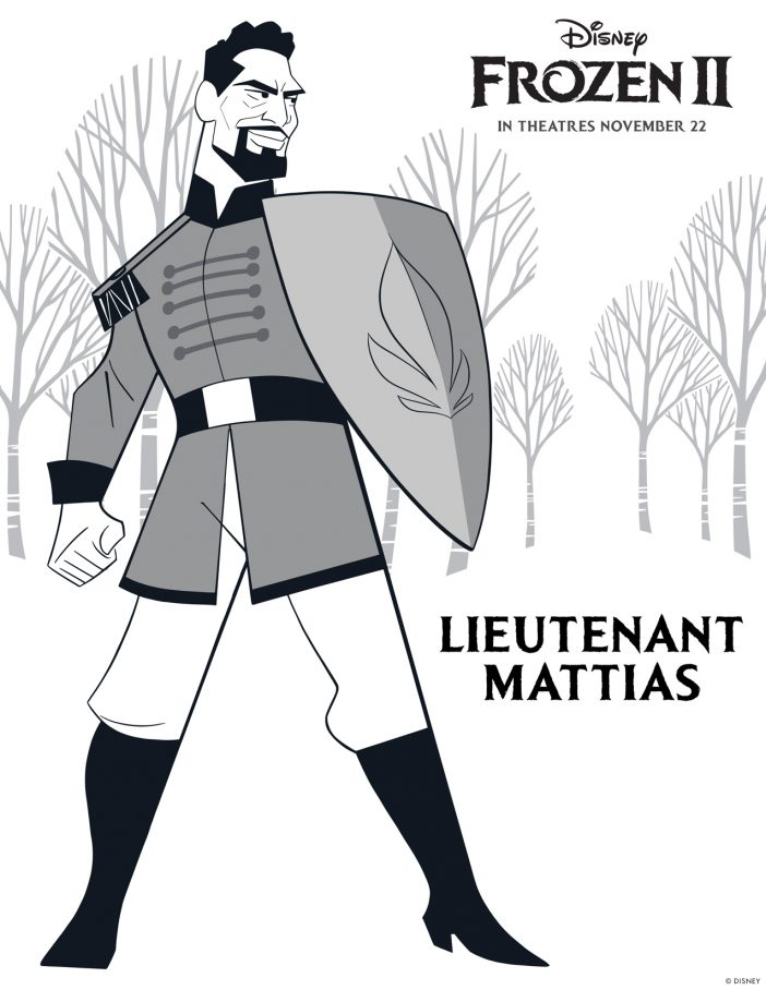 lieutenant mattias printable coloring sheet disney free to print