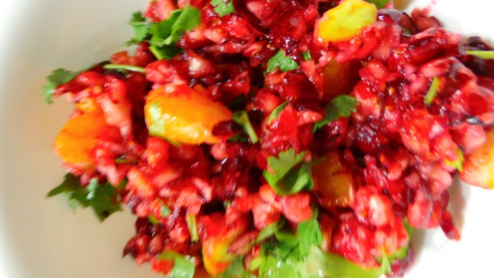 holiday cranberry salsa