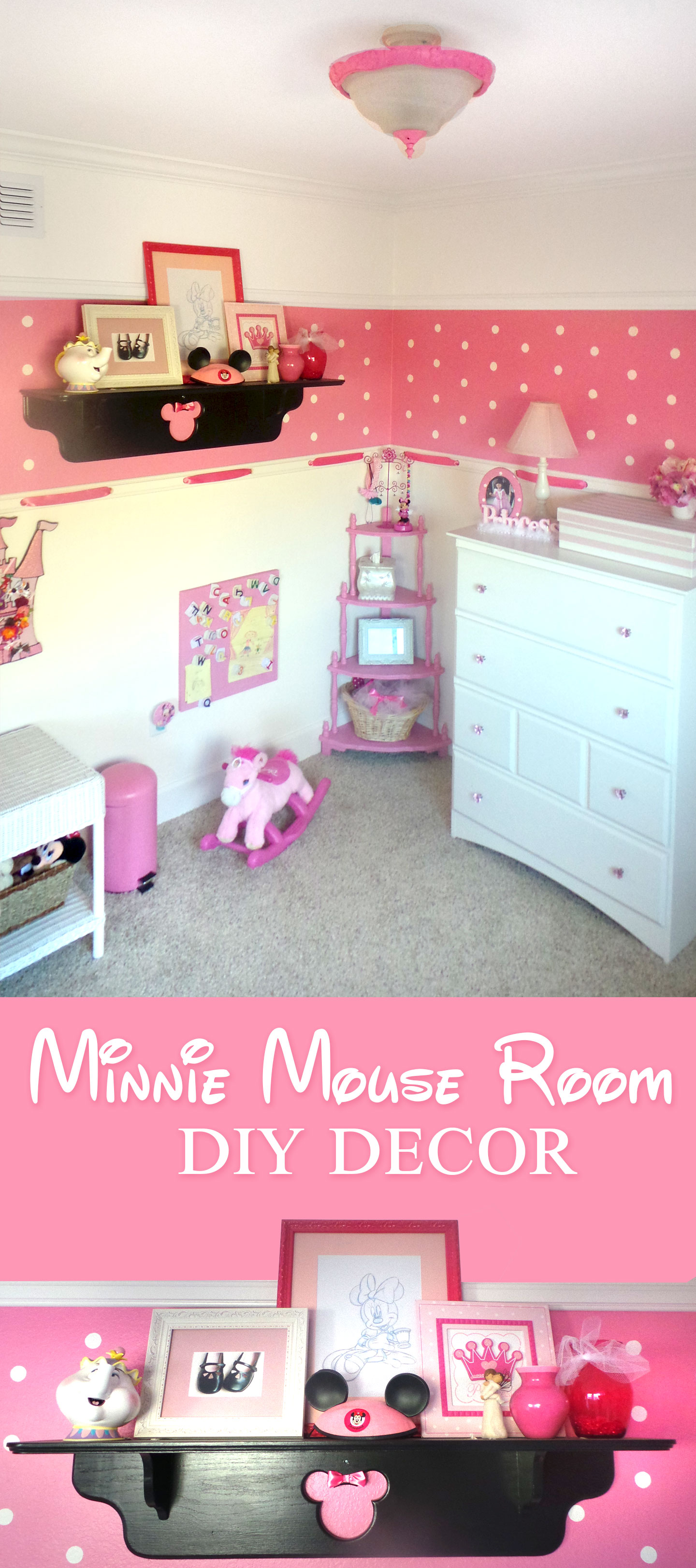 Minnie Mouse Room : DIY Decor - Highlights Along the Way