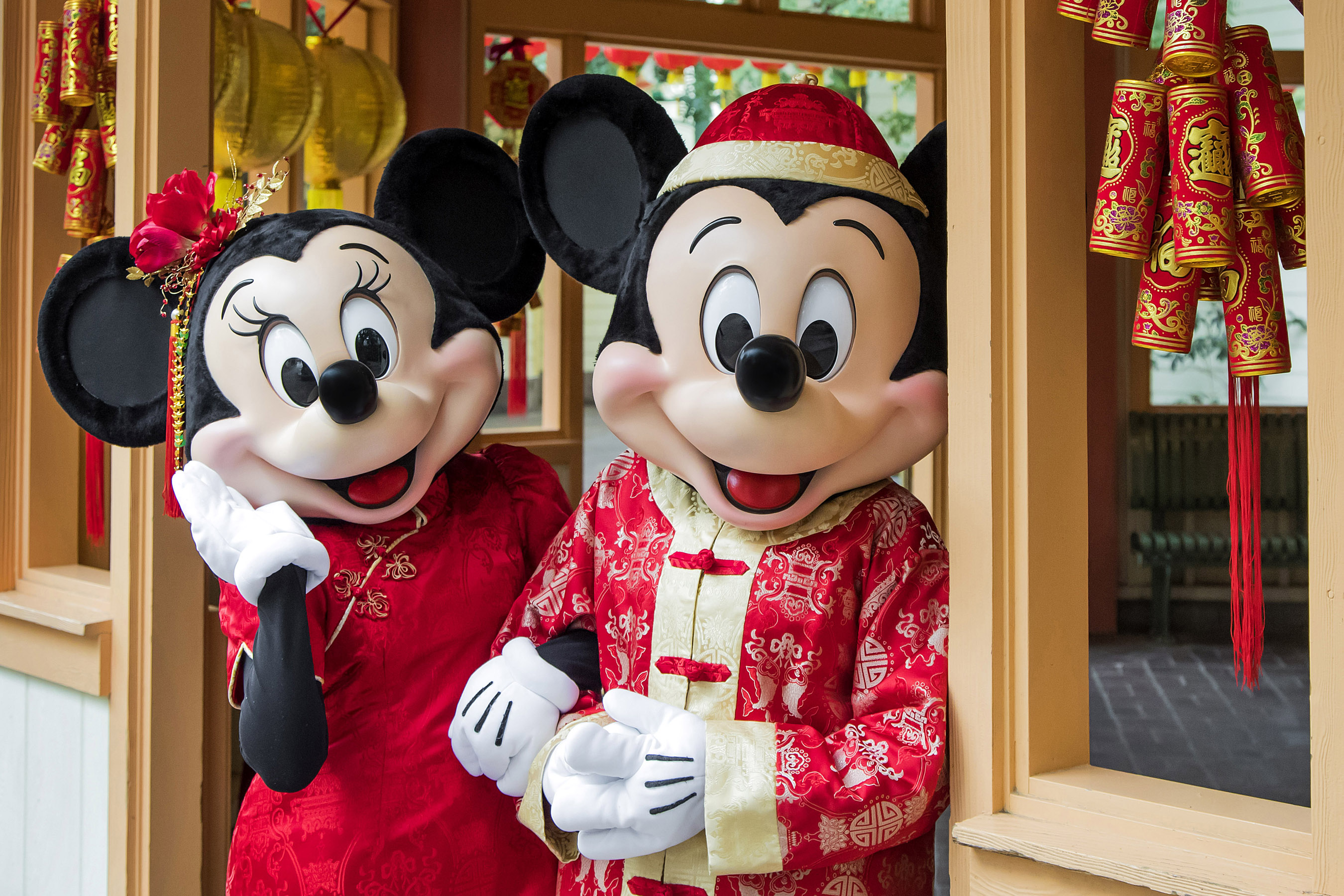 Lunar New Year Mickey and Minnie