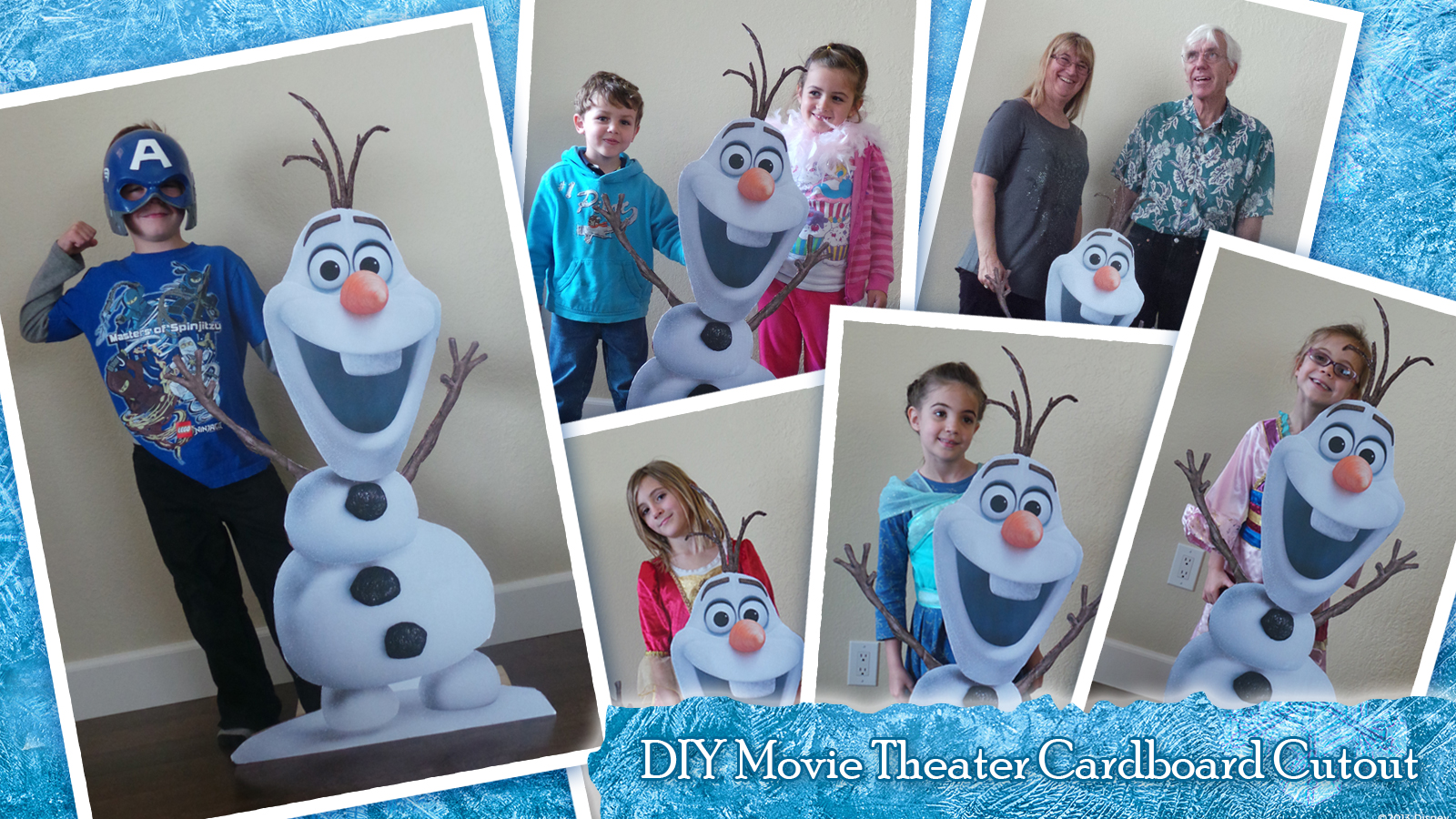 Easy Birthday Party Cardboard Cut Out - Olaf and More!
