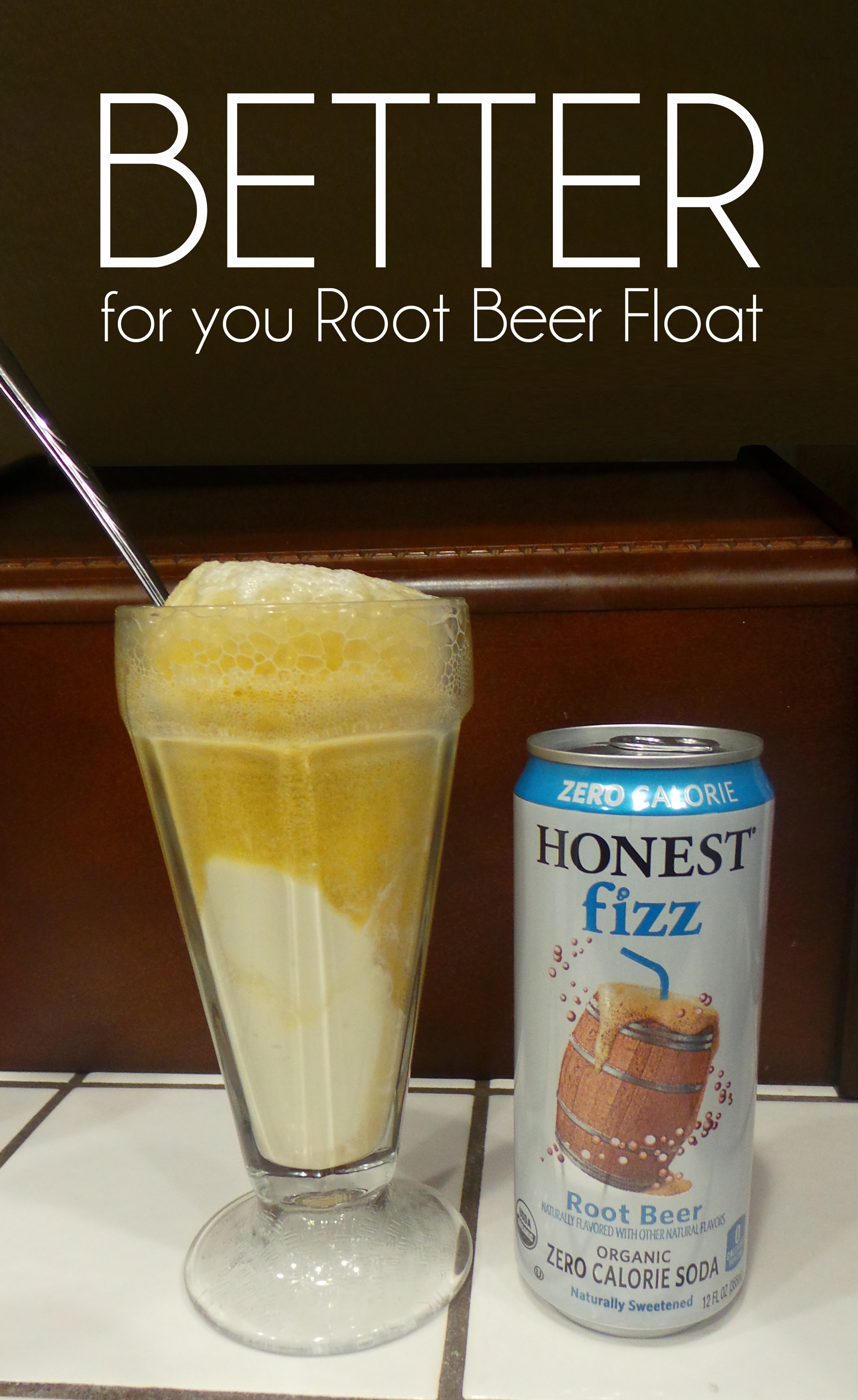 Better for you Root Beer Float