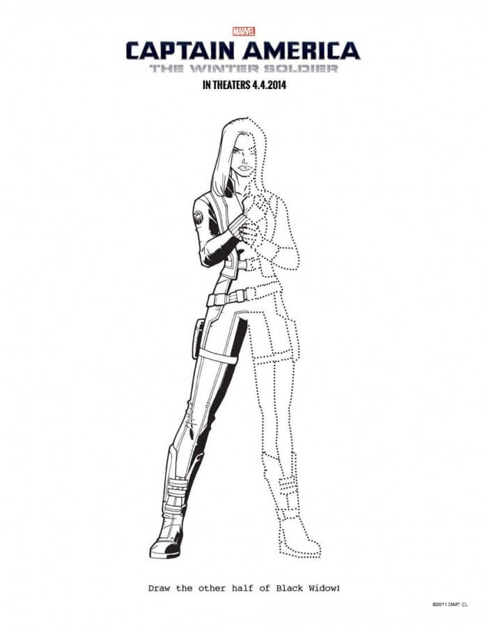 black widow complet the drawing