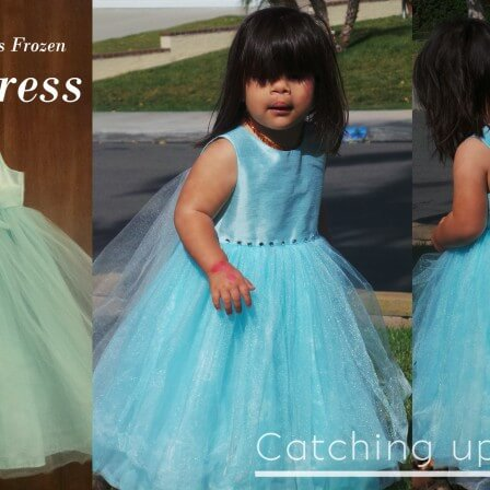 DIY Elsa Frozen Dress : Thrift Store Make over – NO SEW