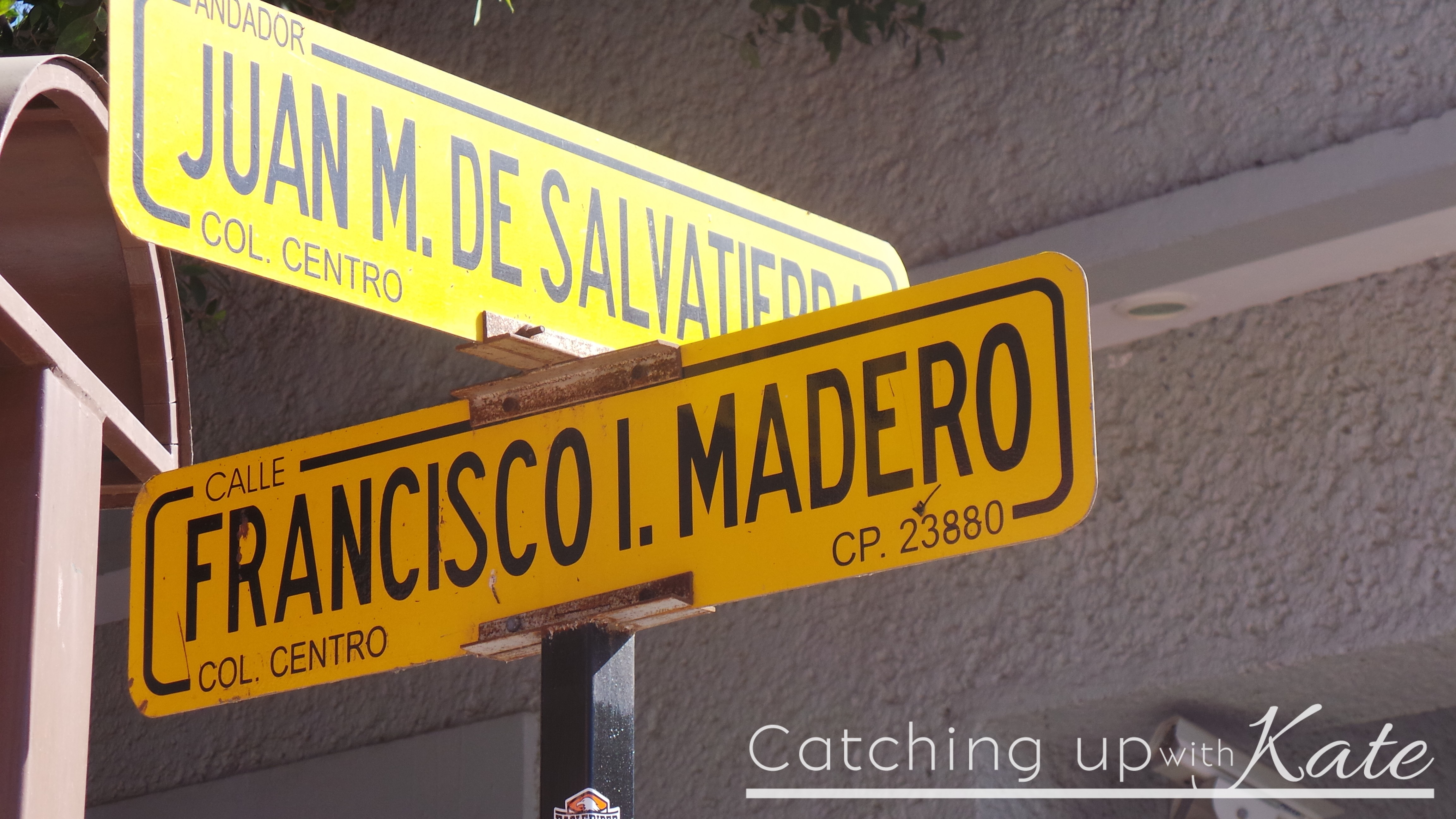 mexico street sign