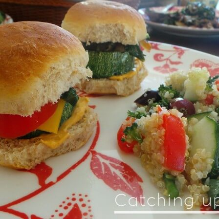 zucchini sliders and side