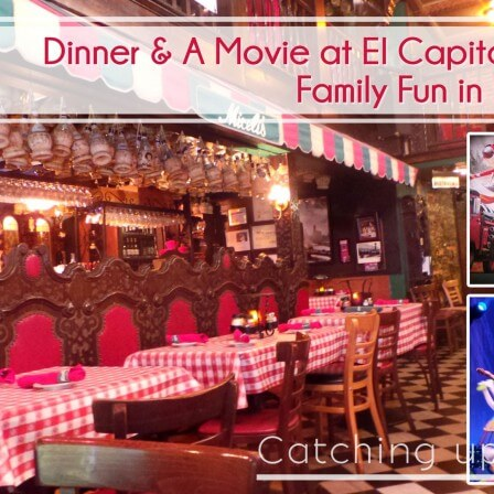 El Capitan Theater dinner and movie