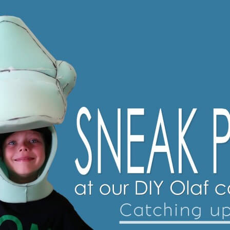 DIY Olaf Costume Sneak Peek