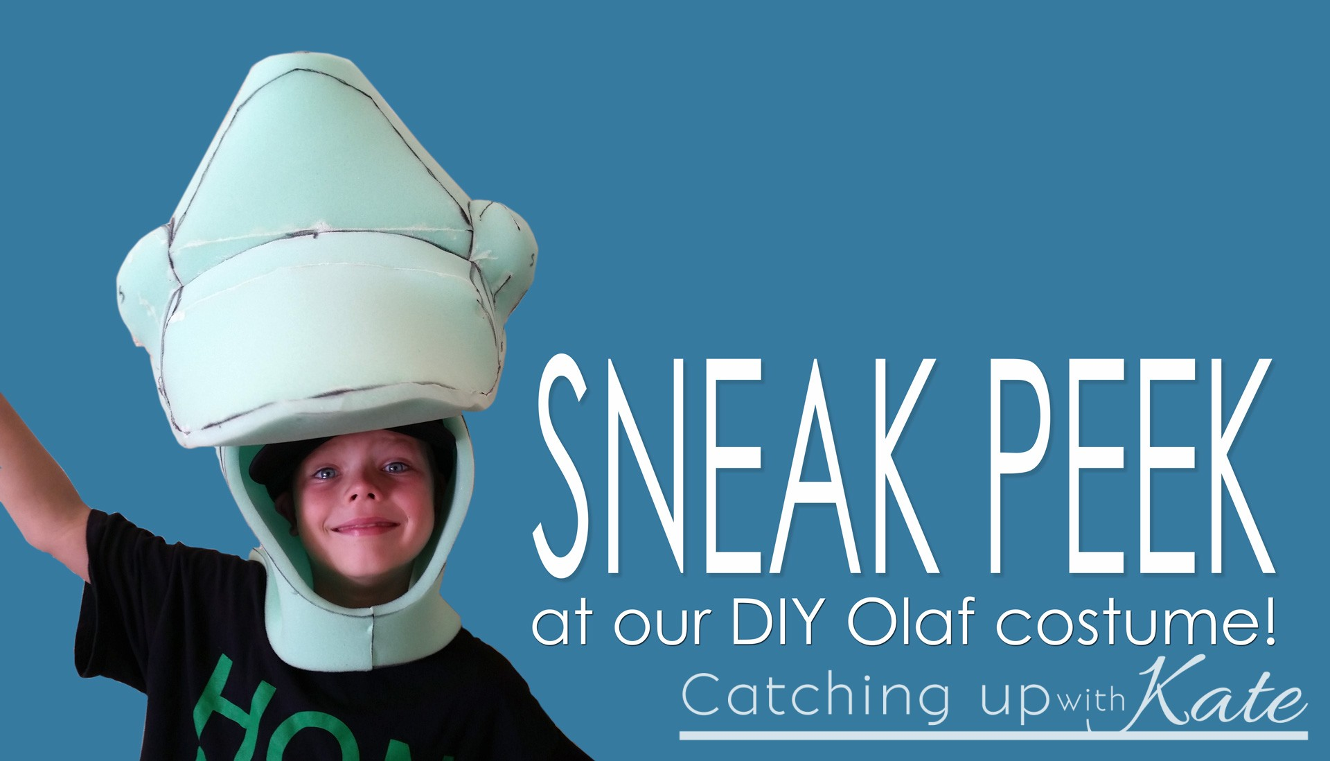 Sneak Peek at our DIY Olaf Halloween Costume